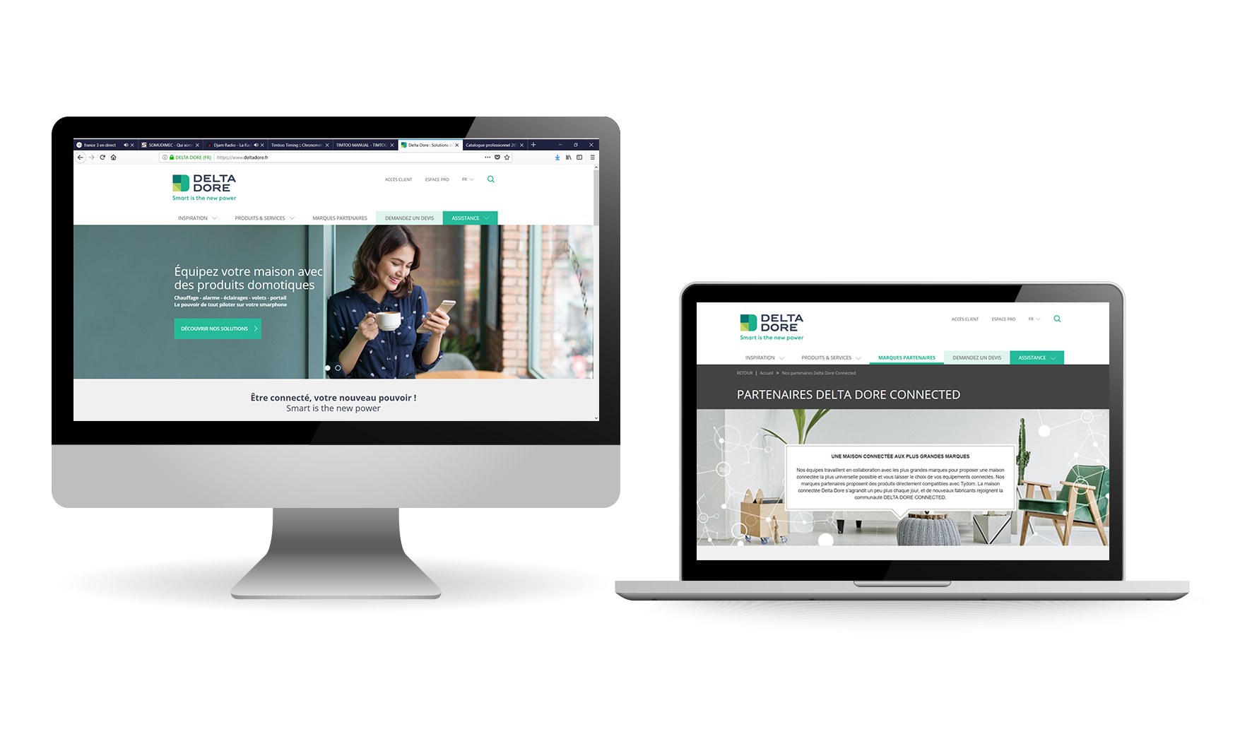 Site commercial responsive Delta Dore