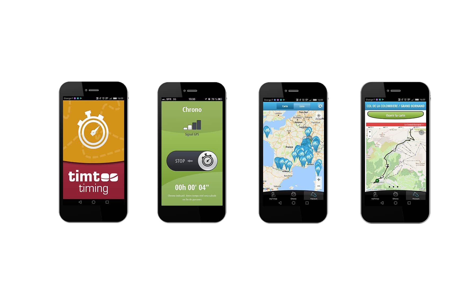 applications mobiles de chronométrage : Timtoo