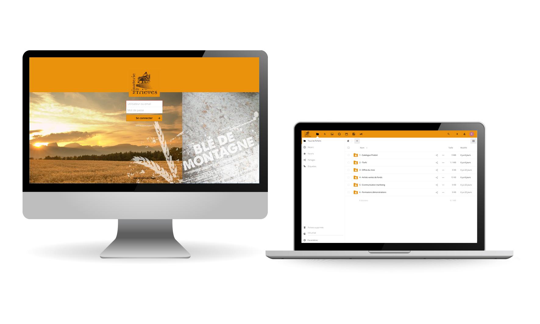 Application web sur tablette